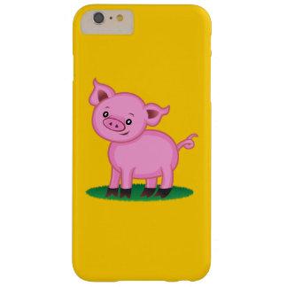 Funda Barely There Para Phone 6 Plus Pequeños caso más del iPhone 6 lindos del cerdo