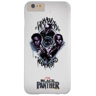 Funda Barely There Para Phone 6 Plus Pintada de los guerreros de la pantera negra el |