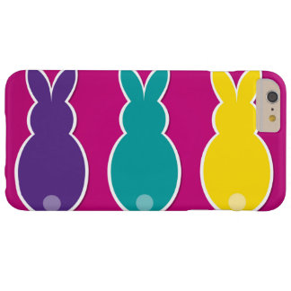 Funda Barely There Para Phone 6 Plus Silueta brillante del conejito de pascua