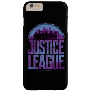 Funda Barely There Para Phone 6 Plus Silueta de la ciudad de la liga de justicia de la
