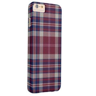 Funda Barely There Para Phone 6 Plus Tela escocesa de tartán del lago del acercamiento