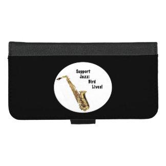 Funda Cartera Apoye el iPhone de la música de jazz 8/7 caja más