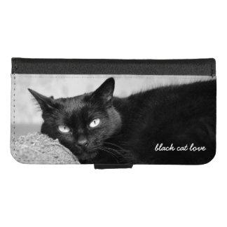 Funda Cartera Cargue su foto del gato negro