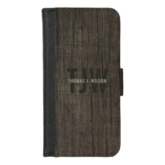 Funda Cartera Corteza natural de madera minimalista del