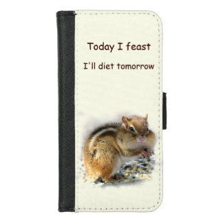 Funda Cartera Festejando iPhone de dieta del Chipmunk 8/7 caja