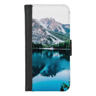Funda Cartera Lago brillante forest de las montañas Nevado