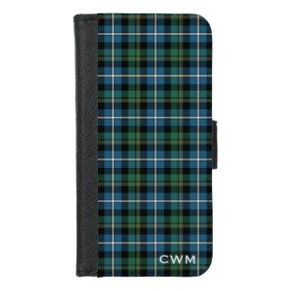 Funda Cartera Monograma escocés de la tela escocesa del tartán