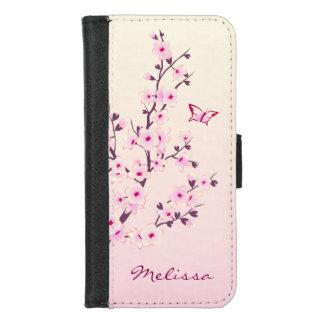 Funda Cartera Monograma floral de las flores de cerezo