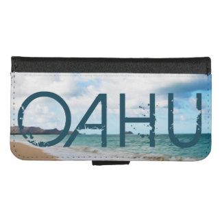 Funda Cartera Olas oceánicas y playa de Oahu Hawaii