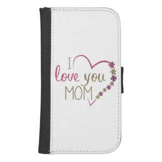 Funda Cartera Para Galaxy S4 Corazón del día de madres de la mamá del amor