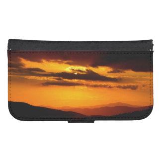 Funda Cartera Para Galaxy S4 Foto hermosa de la puesta del sol