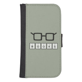 Funda Cartera Para Galaxy S4 Reserva los vidrios Zh6zg del empollón del