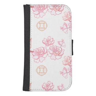Funda Cartera Para Galaxy S4 Sakura, flor de la primavera, flor de cerezo