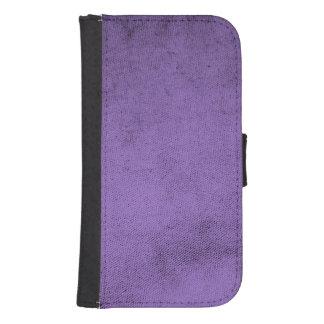 Funda Cartera Para Galaxy S4 Textura púrpura de la tela del terciopelo del