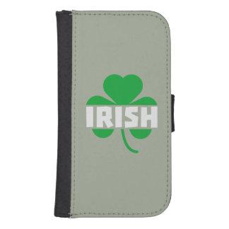 Funda Cartera Para Galaxy S4 Trébol irlandés Z2n9r del cloverleaf