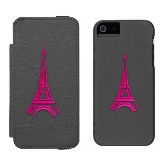 Funda Cartera Para iPhone 5 Watson 3d torre Eiffel, clipart de Francia