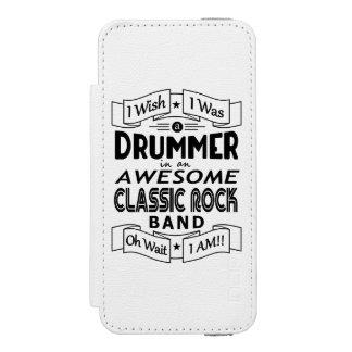 Funda Cartera Para iPhone 5 Watson Banda de rock clásica impresionante del BATERÍA