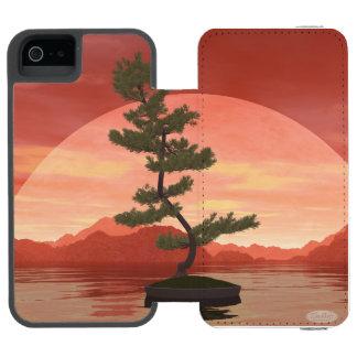 Funda Cartera Para iPhone 5 Watson Bonsais del pino - 3D rinden