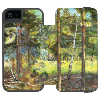 Funda Cartera Para iPhone 5 Watson Bosque del pino
