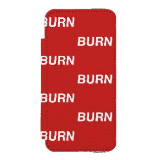 Funda Cartera Para iPhone 5 Watson caja roja de la cartera del burnXburn