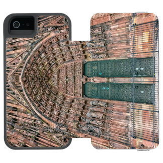 Funda Cartera Para iPhone 5 Watson Cathedrale Notre-Dame, Estrasburgo, Francia
