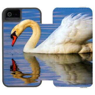 Funda Cartera Para iPhone 5 Watson Cisne mudo, olor del cygnus
