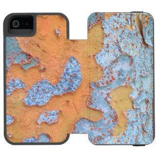 Funda Cartera Para iPhone 5 Watson Corteza de árbol anaranjada y azul