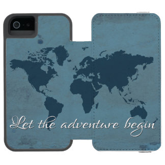 Funda Cartera Para iPhone 5 Watson Deje la aventura comenzar