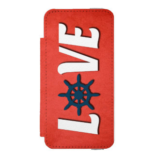 Funda Cartera Para iPhone 5 Watson Diseño náutico del amor