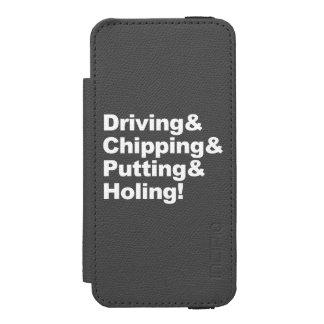 Funda Cartera Para iPhone 5 Watson Driving&Chipping&Putting&Holing (blanco)