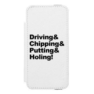 Funda Cartera Para iPhone 5 Watson Driving&Chipping&Putting&Holing (negro)