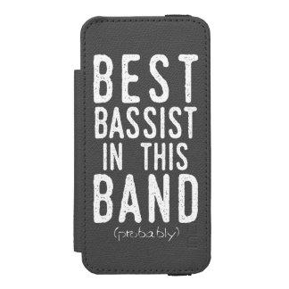 Funda Cartera Para iPhone 5 Watson El mejor bajista (probablemente) (blanco)