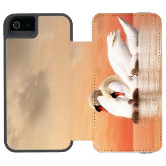 Funda Cartera Para iPhone 5 Watson Familia del cisne