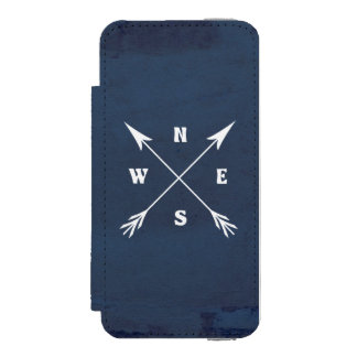 Funda Cartera Para iPhone 5 Watson Flechas del compás