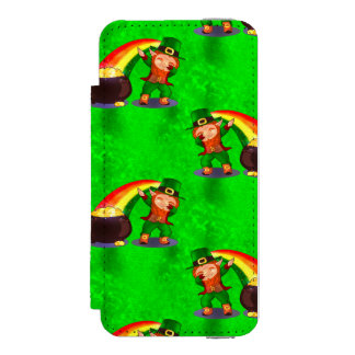 Funda Cartera Para iPhone 5 Watson Leprechaun que frota