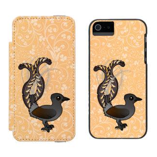 Funda Cartera Para iPhone 5 Watson Lyrebird magnífico de Birdorable