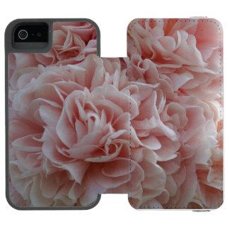 Funda Cartera Para iPhone 5 Watson Malva rosada de las flores de terciopelo
