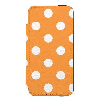 Funda Cartera Para iPhone 5 Watson Modelo de lunar anaranjado