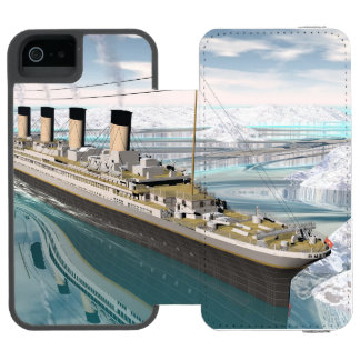 Funda Cartera Para iPhone 5 Watson Nave titánica - 3D rinden