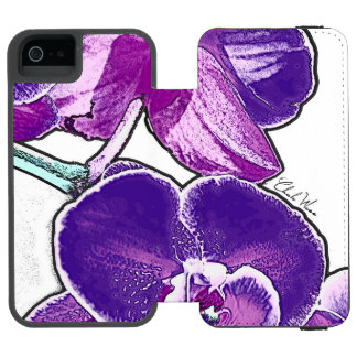 Funda Cartera Para iPhone 5 Watson Orquídeas