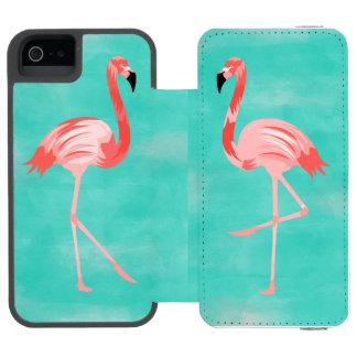 Funda Cartera Para iPhone 5 Watson Pájaro del flamenco