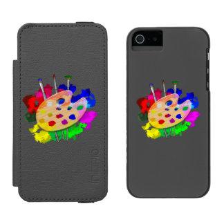 Funda Cartera Para iPhone 5 Watson Paleta y cepillos del artista