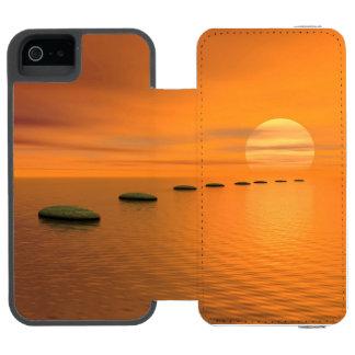 Funda Cartera Para iPhone 5 Watson Pasos al sol - 3D rinden