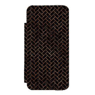 FUNDA CARTERA PARA iPhone 5 WATSON PIEDRA NEGRA DEL MÁRMOL BRICK2 Y DE BROWN