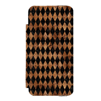 FUNDA CARTERA PARA iPhone 5 WATSON PIEDRA NEGRA DEL MÁRMOL DIAMOND1 Y DE BROWN