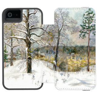 Funda Cartera Para iPhone 5 Watson puente del invierno