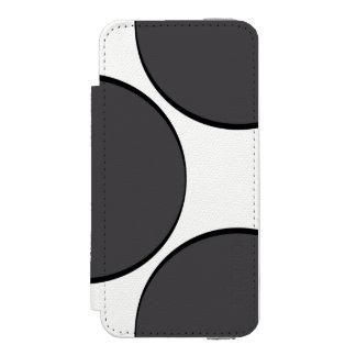 Funda Cartera Para iPhone 5 Watson Punto gris oscuro