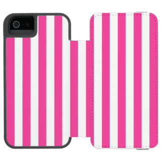 Funda Cartera Para iPhone 5 Watson Rayas verticales rosadas