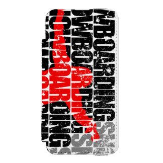 Funda Cartera Para iPhone 5 Watson Snowboard #1 (negro)