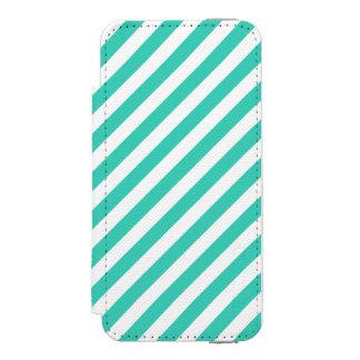 Funda Cartera Para iPhone 5 Watson Trullo y modelo diagonal blanco de las rayas